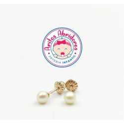 Aritos de perla cultivada